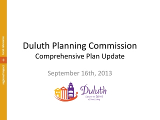 Duluth Planning Commission Comprehensive Plan Update