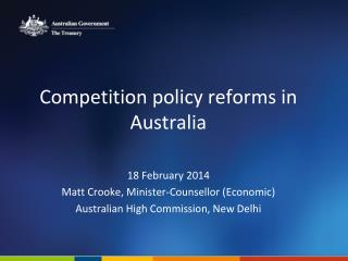 Competition policy reforms in Australia