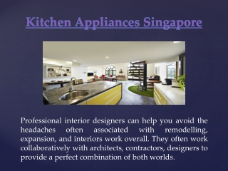 Residential Interior Design Singapore
