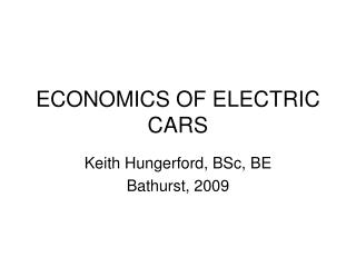 ECONOMICS OF ELECTRIC CARS 02