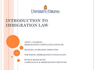 INTRODUCTION TO  I MMIGRATION LAW
