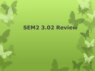 SEM2 3.02 Review