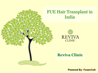 Reviva FUE Hair Transplant Clinic in India
