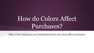 How do Colors Affect Purchases?