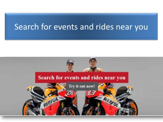 Search for events and rides near you