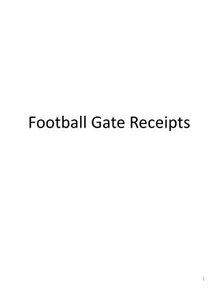 Football Gate Receipts