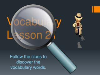 Vocabulary Lesson 21