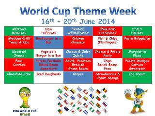 World Cup Theme Week