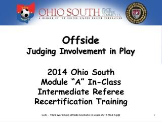 Offside Judging Involvement in Play