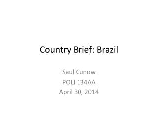 Country Brief: Brazil