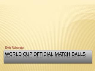 World cup official match balls