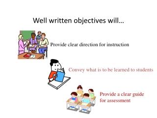 Well written objectives will…