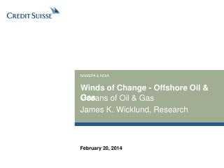 Winds of Change - Offshore Oil & Gas