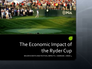 The Economic Impact of the Ryder Cup