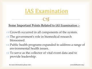 We provide full online support for IAS examination