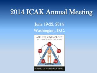 2014 ICAK Annual Meeting