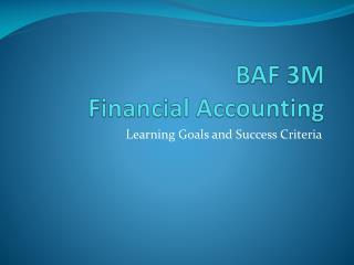 BAF 3M Financial Accounting