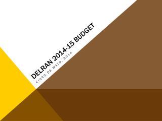 Delran 2014-15 budget