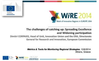 Metrics  & Tools for  Monitoring Regional Strategies , 13/6/2014 Athens, Greece