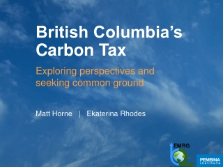 British Columbia's Carbon Tax