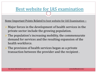 Most visited best website for IAS examination