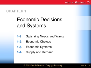 Economic Decisions  and Systems