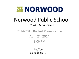 Norwood Public School Think – Lead - Serve
