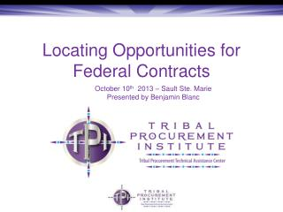 Locating Opportunities for Federal Contracts