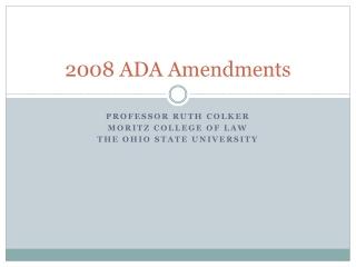 2008 ADA Amendments