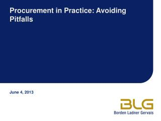 Procurement in Practice: Avoiding Pitfalls