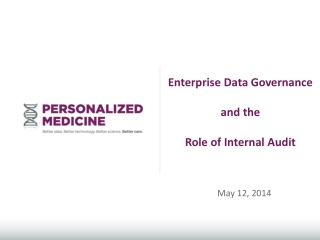 Enterprise Data  Governance and the  Role  of Internal Audit