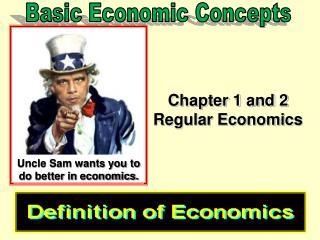 Chapter 1 and 2 Regular Economics