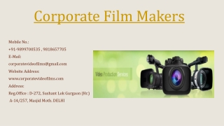 Grand Corporate Film Makers