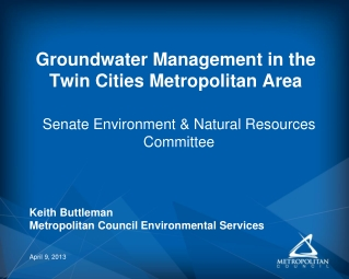 Groundwater Management in the Twin Cities Metropolitan Area
