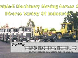 Heavy Equipment Movers In California
