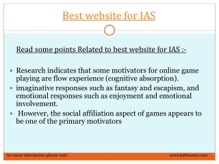 Best website for IAS to select Optional Subjects for IAS Exa