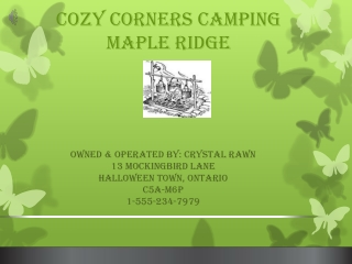 Cozy Corners Camping Maple Ridge