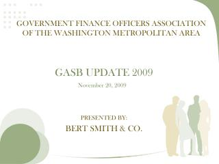 Government Finance Officers Association of the Washington metropolitan area