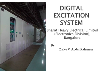 DIGITAL   EXCITATION  SYSTEM