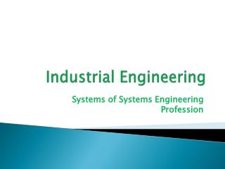 Industrial  Engineering