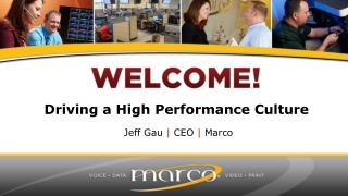 Driving a High Performance Culture