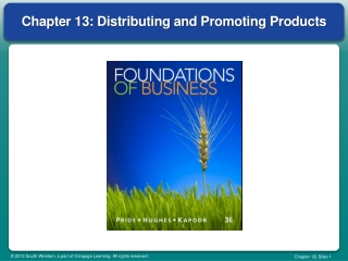Chapter 13: Distributing and Promoting Products