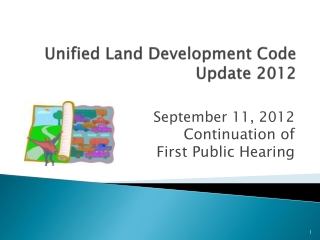 Unified Land Development Code Update 2012