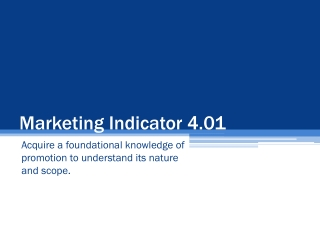 Marketing Indicator 4.01