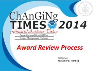 Award Review Process