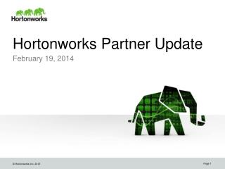 Hortonworks Partner Update