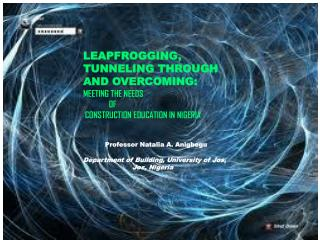 LEAPFROGGING, TUNNELING THROUGH  AND OVERCOMING:  MEETING THE NEEDS              OF