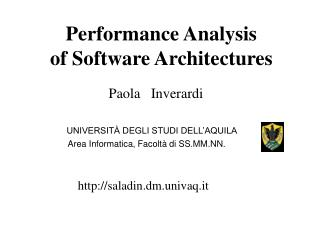 performance analysis  of software architectures