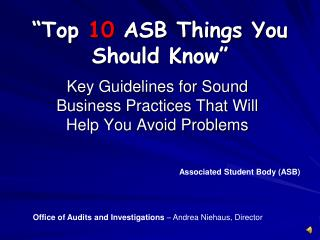 """Top  10  ASB Things You Should Know"""