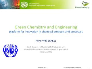Green Chemistry and Engineering platform for innovation in chemical products and processes